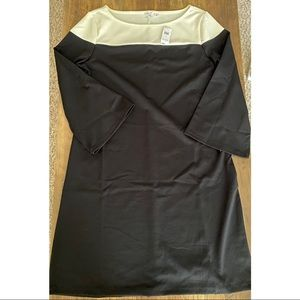 GAP // B&W Colorblock Dress